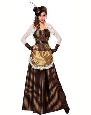 Steampunk kostuum glanzend voor vrouw