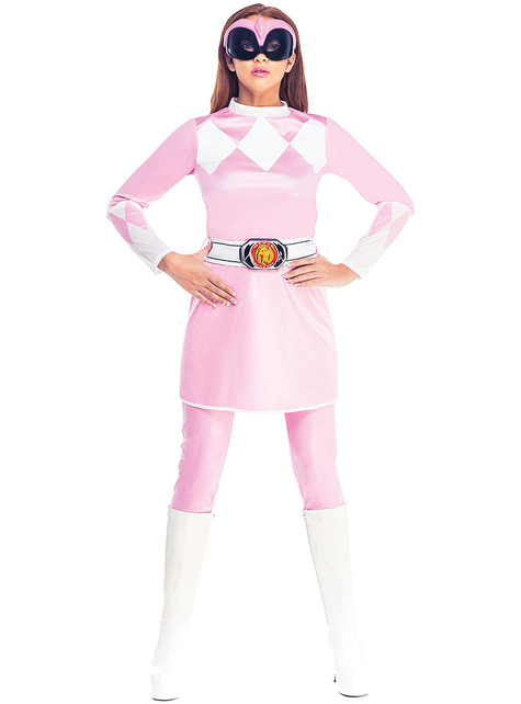 Disfraz de Power Ranger rosa para mujer - Power Rangers Mighty Morphin