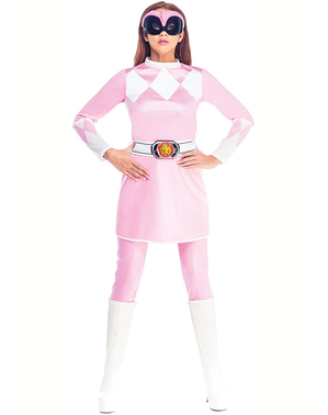 Dámský kostým Strážci vesmíru růžový - Strážci Vesmíru Mighty Morphin
