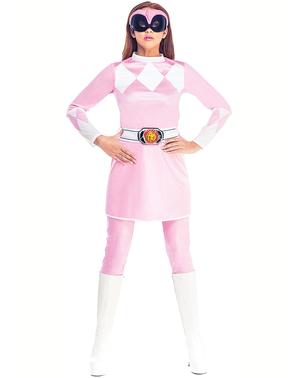 Kostium Power Ranger różowy damski - Power Rangers Mighty Morphin