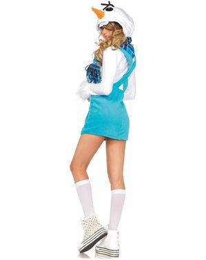 Schneemann Kostüm für Damen Deluxe