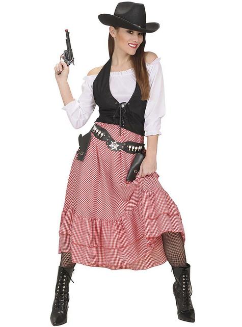 Saloon cowgirl Kostuum voor vrouw