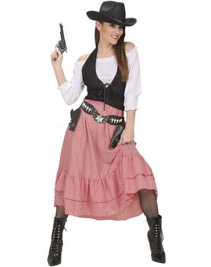 Cowboy saloondräkt till kvinna