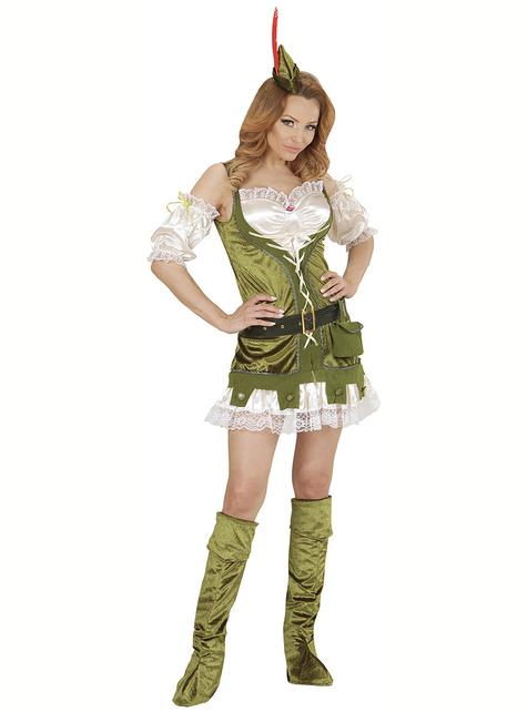 Disfraz de Robin del bosque para mujer talla grande