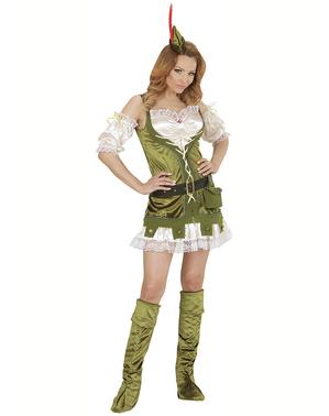 Costum Robin din pădure pentru femeie mărime mare