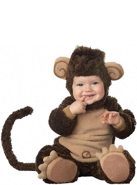 Strój psotna małpka dla niemowlaka