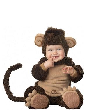 Kūdikių mažai beždžionių kostiumas