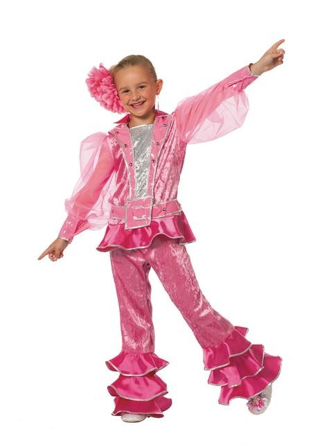 Disfraz de Abba rosa años 70 para niña