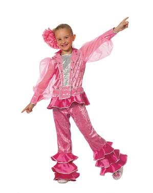 Rosa Mamma Mia kostyme til jenter - Abba
