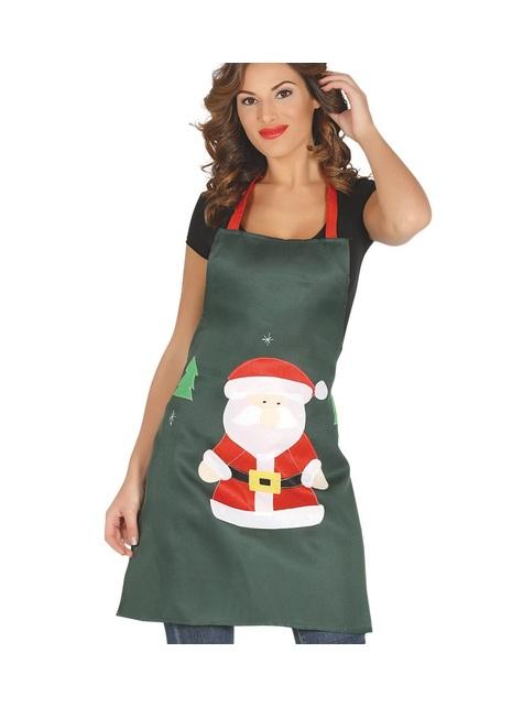 Zielony fartuch Święty Mikołaj