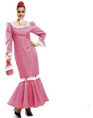 Costume da chulapa madrilena rosa per donna