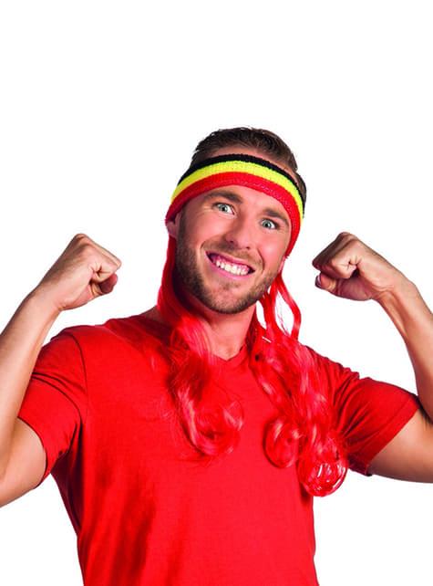 Bandeau sportif Belgique avec cheveux
