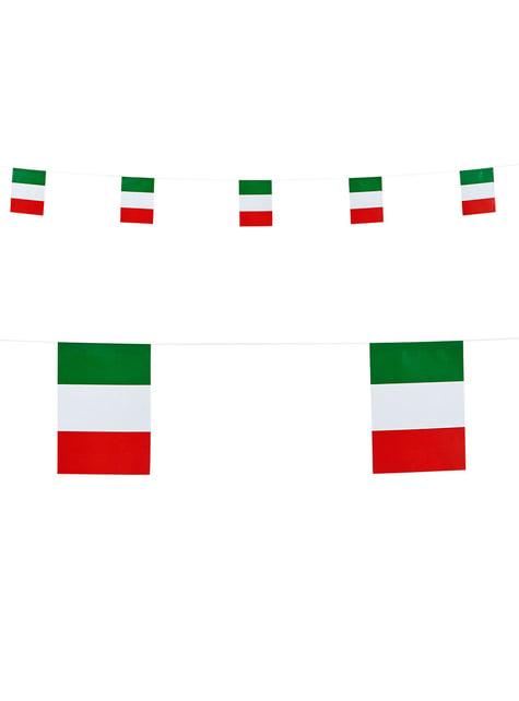 Guirlande de drapeaux d'Italie