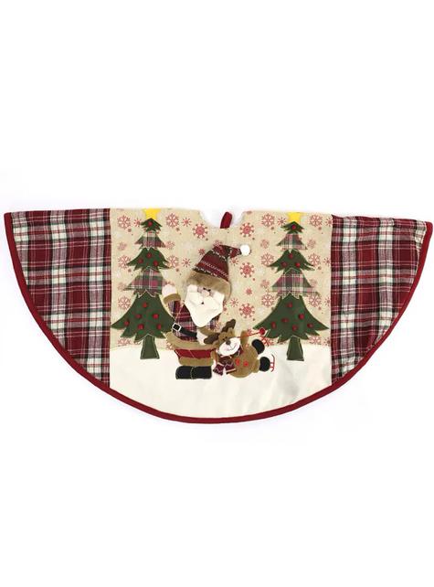 Cubre pies de árbol navideño de Papá Noel