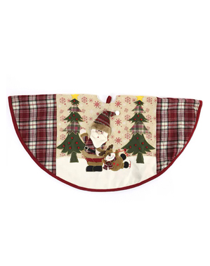 Copri base albero di Natale di Babbo Natale