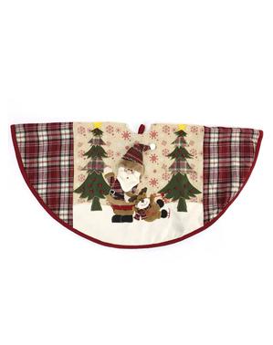 Weihnachtsbaum Fußwärmer mit Weihnachtsmann