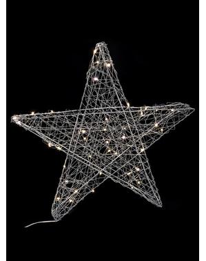 Weihnachtsstern silber mit 40 Lichtern