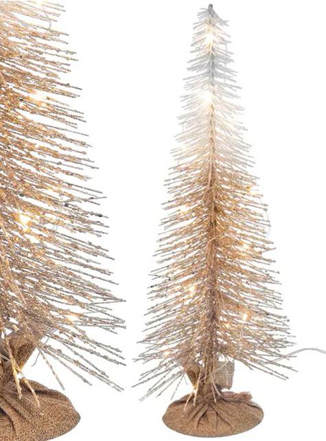 Árbol de navidad dorado con luces