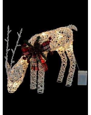 Weihnachtliches Rentier mit Lichtern