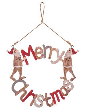 Ghirlanda natalizia di legno