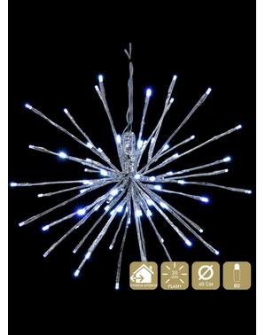 Estrela de luz branca de pendurar para o Natal