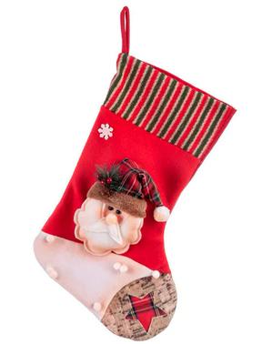 Calcetín navideño de Papá Noel