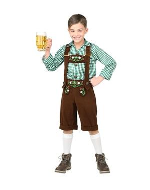 Oktoberfest Lederhose Kostüm für Jungen