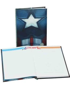 Caderno de Capitão América: Civil War com luz