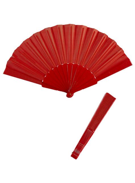 Abanico rojo en tela