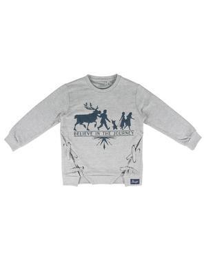 ディズニー アナと雪の女王2女の子用スエットシャツ、グレー