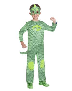 しゅつどう!パジャマスク 子供用キャットボーイとゲッコーのリバーシブル衣装