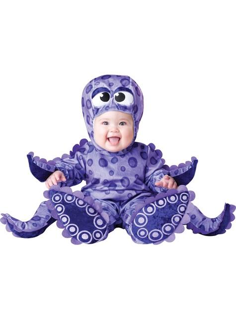 Fato de polvo com tentáculos para bebé