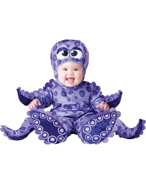 Déguisement de pieuvre avec tentacules pour bébé