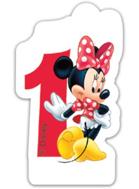 Vela número 1 Disney Minnie Mouse