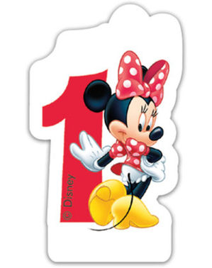 Vela número 1 Disney Minnie Mouse