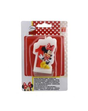 Kaarsje nummer 1 Minnie Mouse