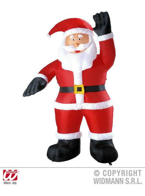 Papá Noel hinchable saludando con luz (244 cm)