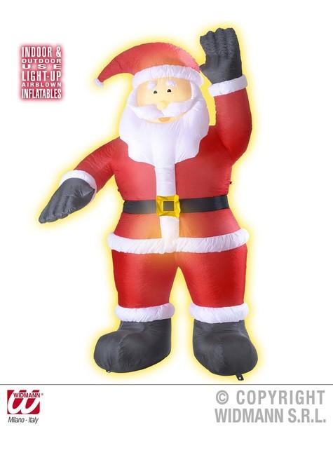 Babbo Natale gonfiabile che saluta con luce (244 cm) - per le tue feste