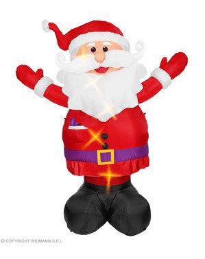 Oppblåsbar julenisse med lys (300cm)