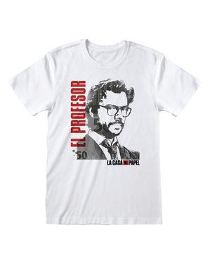 """Тениска на """"Хартиената къща"""" с Професора за възрастни"""