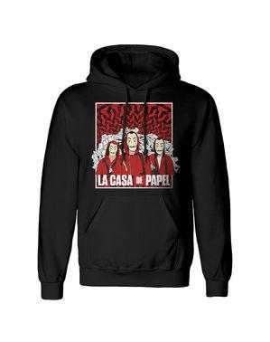 Casa de Papel hoodie volwassenen zwart