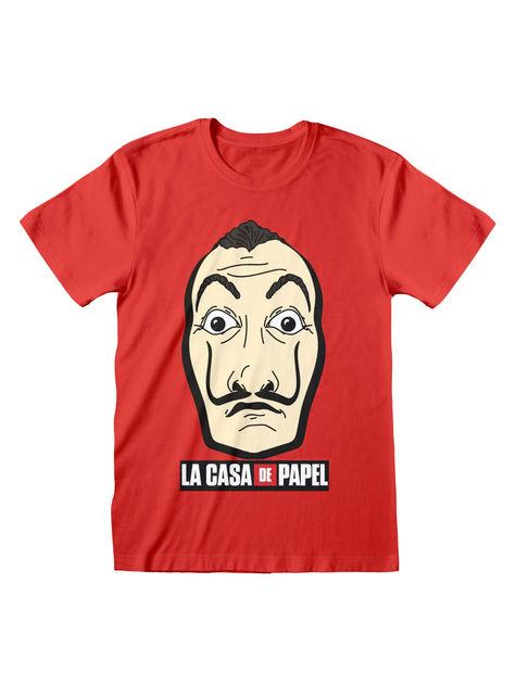 Czerwona koszulka Dom z Papieru dla dorosłych