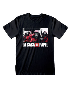 Tričko pro dospělé Money Heist černé se skupinou