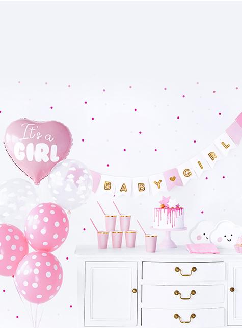 Set de decoración It's a girl - Baby Shower Party