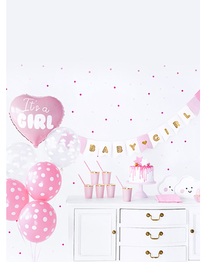 """It's a girl"" -koristesetti - Baby Shower Party"