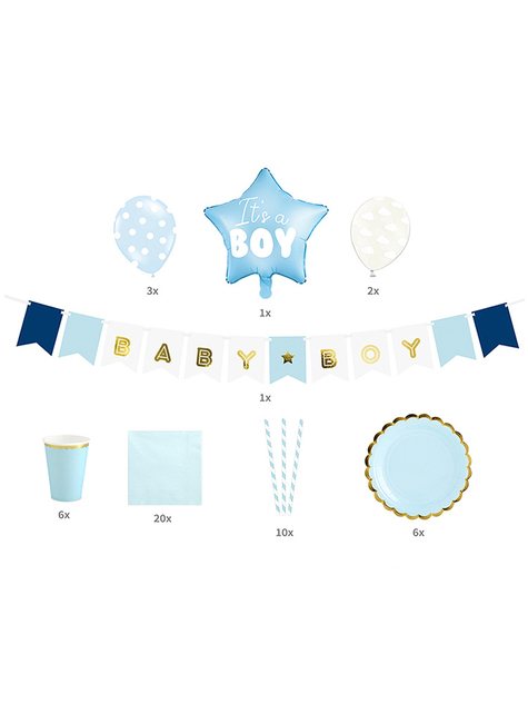 Set de decoración It's a boy - Baby Shower Party