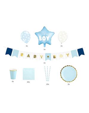 Set de decoración It's a boy - Baby Shower Party