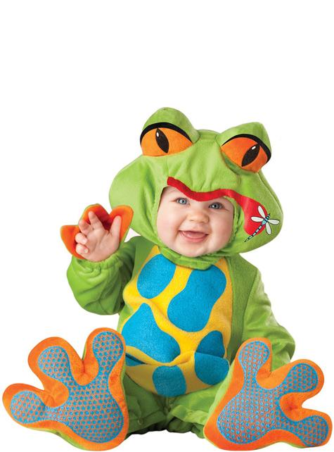 Déguisement d'une jolie grenouille pour bébé