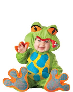 Fato de rã engraçada para bebé