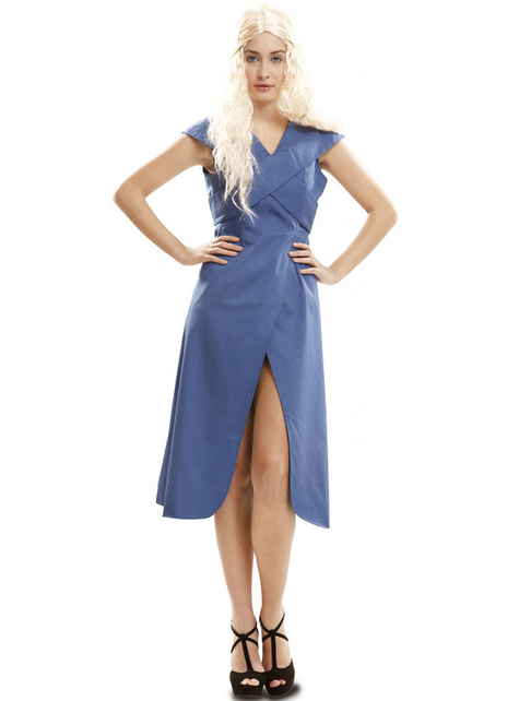 Womens Blue Queen of Dragons Costume